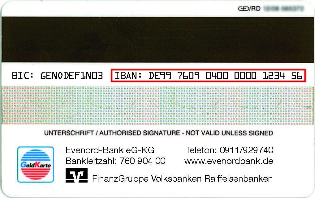 Bank Mit Iban Finden